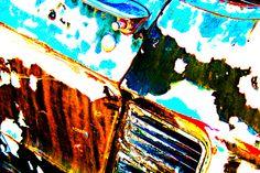 beauty in an old car door