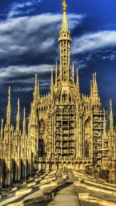 Roof of Milan Cathedral,  Milan, Italy