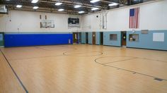 Tarkett Sports Omnisports 6.5 GreenLay installation in Maple Design in Dummerston, Vermont