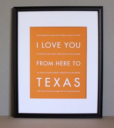 I Love You from Here to Texas