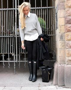 Shop this look on Kaleidoscope (sweater, pants, boots, shirt)  http://kalei.do/WHvxIYHJvNotjaxz