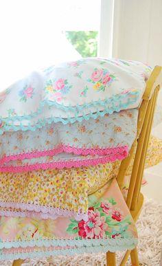 Love the crocheted edges.