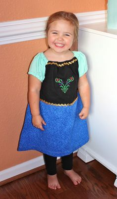 Princess Anna from Frozen Everyday Princess by BlueRibbonDresses.      Our Blue Ribbon Dresses just arrived and they are beautiful!!!!!!