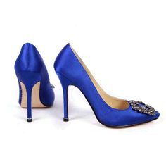 manolo blahnik blue shoes from SatC