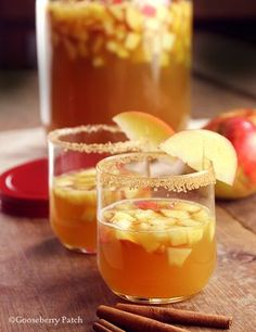 Spiced Apple Sparkler - just 5 ingredients! See more from Gooseberry ...