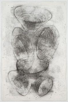 Stephen Talasnik, Anatomical Series:Savant's Tower, 2007, Graphite on paper