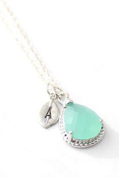 Mint Opal Necklace #prom #mint #stpatricksday