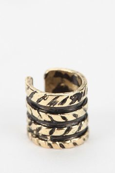 Etched Rope Cuff Earring #urbanoutfitters