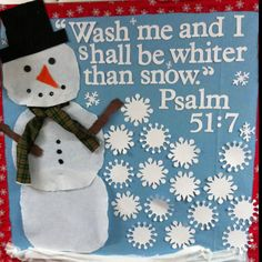 Cute winter bulletin board!
