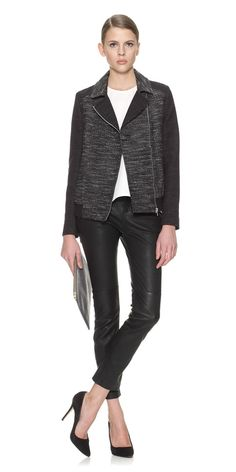 Bonded Tweed Biker: Sale, Womens Coats & Jackets from Whistles - Great take on the biker!