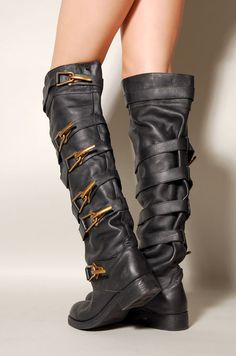 Jeffrey Campbell motorcycle boots    Have you ever seen anything more perfect?? My ultimate boot! I would fight people for them. And I would win