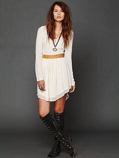 dress and boots, YES please~