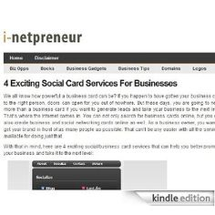 I-netpreneur: All about Online Startups. Internet business tips, startup news, and marketing tactics for small businessKindle blogs are fully downloaded onto your Kindle so you can read them even when you're not wirelessly connected. And unlike RSS readers which often only provide headlines, blogs on Kindle give you full text content and images, and are updated wirelessly throughout the day.