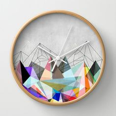 Colorflash 3 clock by Mareike Böhmer Graphics idea, colorflash, clock, art prints, mareik böhmer, inspir, graphics, object, böhmer graphic