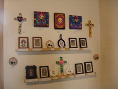 """Day of the Dead inspired small works. Priced $30-55. See the """"Tiny Treasures"""" board."""