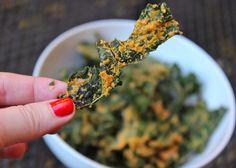 "Paleo ""Cheez Its""! No joke, these kale chips taste like cheez-its! #paleo #vegan #glutenfree"