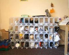water container storage- great recycling