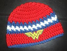 Handmade Wonder Woman Crochet Hat / Photo Prop / by LayneCouture, $19.99