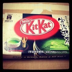 Green tea Kitkat!
