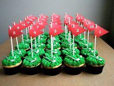 cupcakes cupcakes, bday cakes golf, birthday parties, golf cupcak, boy bday, golf parti, golf birthday, bday idea, aidan bday