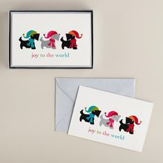 Scottie Dogs Boxed Holiday Cards, Set of 15 | World Market