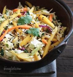 This recipe for Asian Cabbage Mango Slaw is a fantastic idea for a quick and simple salad recipe for the Spring or Summer.