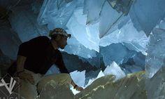 Cueva de cuarzos gigantes en México. Naica.