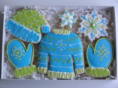 east coast, winter cooki, sweaters, christma cooki, sweater set