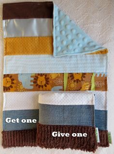 Baby Boy Sensory Security Blanket Lovey - sunny the lion - Get One Give One to babies in Kenya, $30.00