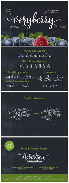 Veryberry is a handwritten font with a unique character #font #graphics