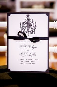 Black and White Wedding, Real New York Wedding, Modern Décor, Black Wedding Dress || Colin Cowie Weddings