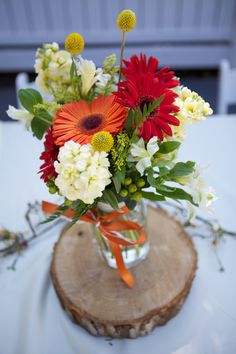 Orange Yellow Red Wedding Colors Fall Wedding | Lee Lee Interiors