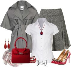 Grey Rodnik Coat, created by dimij on Polyvore
