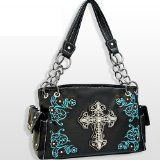 Black Rhinestone Cross Purse