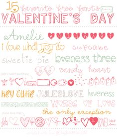 Free valentine's day fonts, free heart fonts