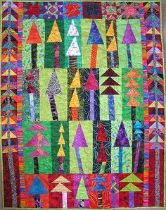 more Freddie    Wonky Tree Quilt