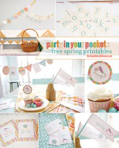 party in your pocket: free spring printables | the handmade home