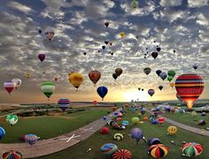 I adore this picture.   Post by May Fong Robinson on Google+ balloon gather, hot air balloons