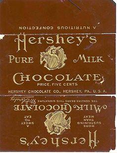 Vintage Hershey's Chocolate wrapper
