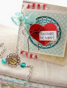Adorable card and bracelet from @Andrea Budjack using #epiphanycrafts . http://epiphanycrafts.com/show-a-little-love-with-epiphany-crafts/