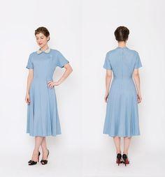 1950s Periwinkle Dress