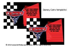Disney Cars Birthday Party #birthday #party #invitation #template #printable #cars #disney #lightiningmcqueen $2.00