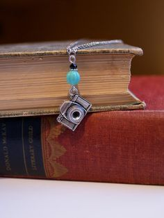 Photographers Necklace Silver Camera by HarmonyGardenDesigns, $19.00