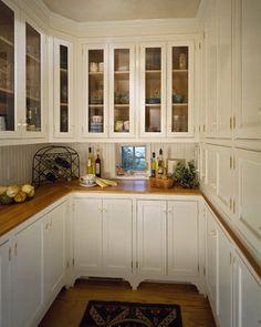 small kitchen designs, glass doors, butler pantri, traditional kitchens, small kitchens, butler pantry, pantry design, cabinet doors, countertop