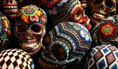Unique story and design, beaded skulls by Our exQuisite Corpse