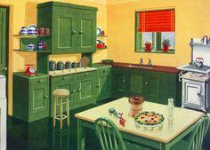 Green 40s kitchen