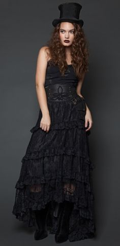 Leather And Lace Maxi Skirt