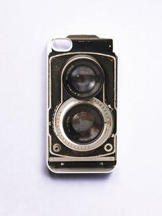 iPhone 4 Case Retro Twin Reflex Camera - White. $16.99, via Etsy.