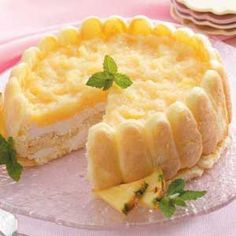 Pineapple Breeze Torte Recipe | Taste of Home Recipes