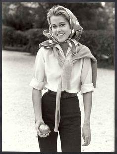 Jane Fonda playing bocce ball